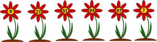 Image of six flowers contain some numbers in center of it