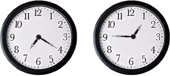 Image shows two clocks