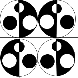 Image of some shaded and unshaded circles: Choice B