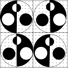 Image of some shaded and unshaded circles: Choice D