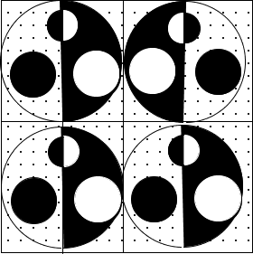 Image of some shaded and unshaded circles: Choice C
