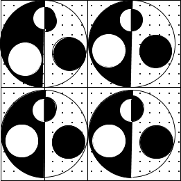 Image of some shaded and unshaded circles: Choice A