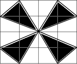Image of rectangle with some shaded parts is given.