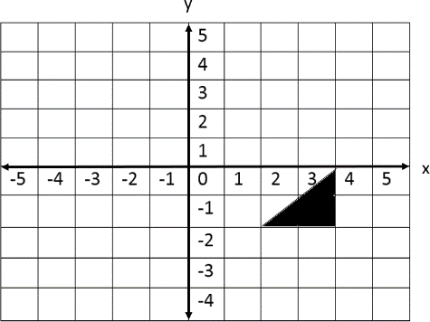 Position of the triangle is given in a coordinate plane ChoiceD