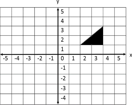 Position of the triangle is given in a coordinate plane ChoiceC