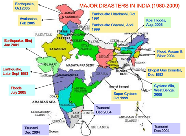 Image Of The Major Disasters In India