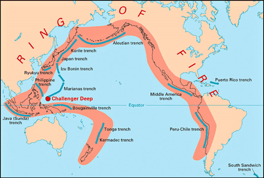 Image Of The Ring of Fire is a major area