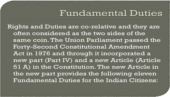 Image Of The Fundamental Duties
