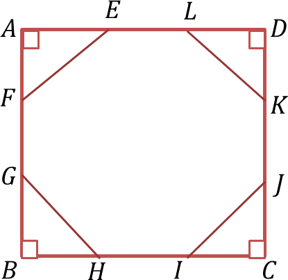 A regular octagon EFGHIJKL