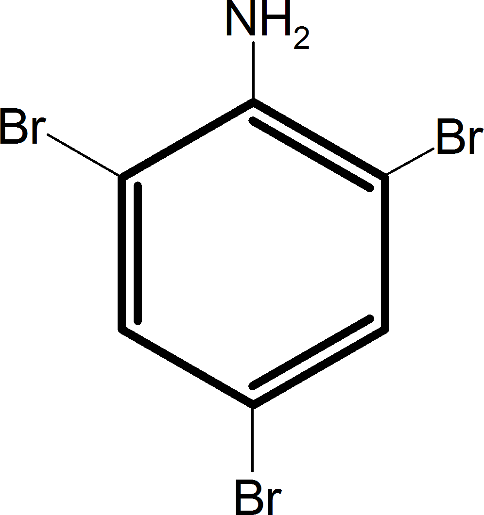 Aniline reacts with bromine and the final product is – Choice A