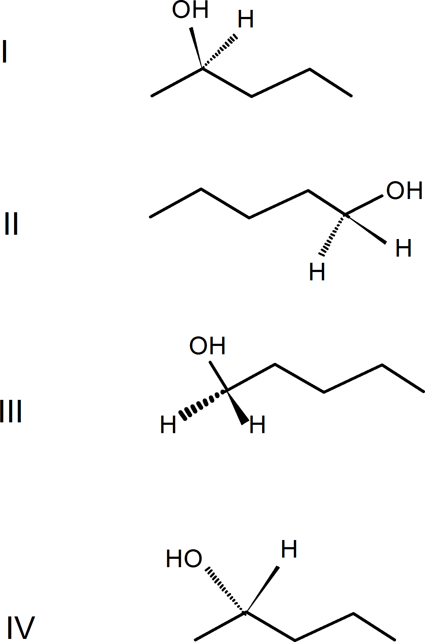 Enantiomeric pair among the following four structures