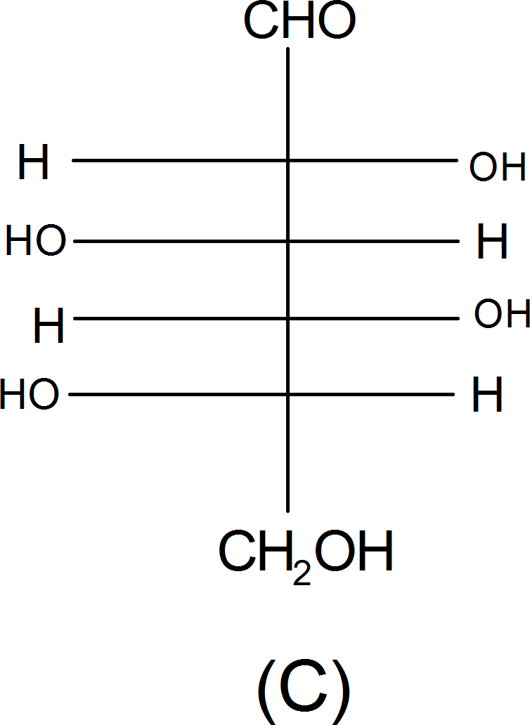 Structure of L-(-) glucose – Choice C
