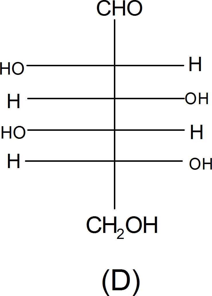 Structure of L-(-) glucose – Choice D