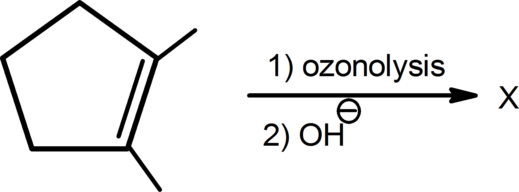 Ozonolysis result of the product is