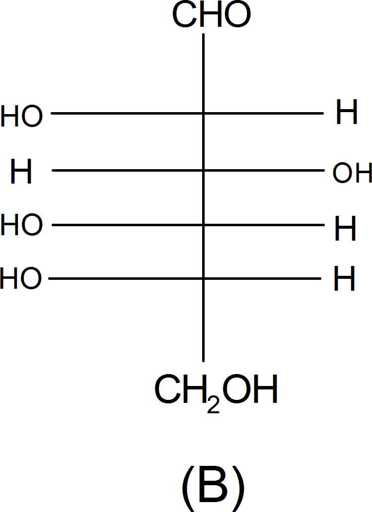 Structure of L-(-) glucose – Choice B