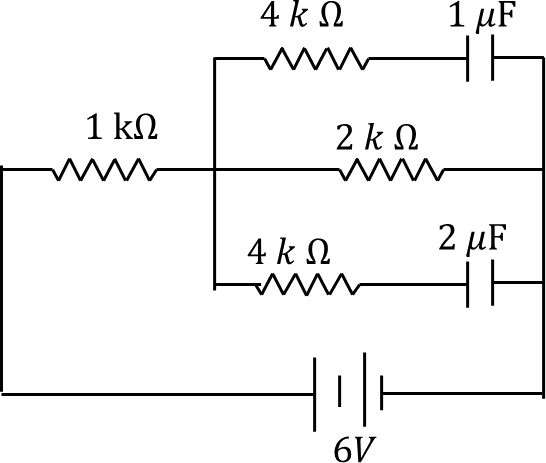 Combination of resistors and capacitors