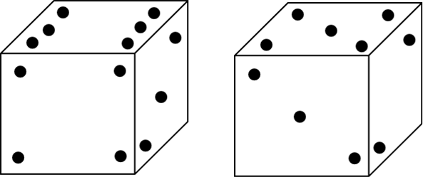 Image shows two positions of a block