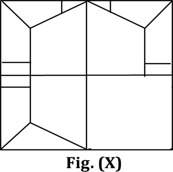 Figure shows the four parts in Figure (X)