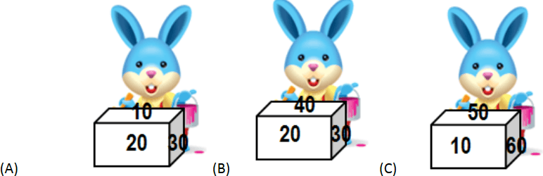 Number on dice with rabbits: