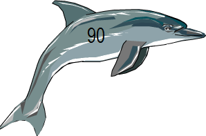 Shows image of fish with 90 number