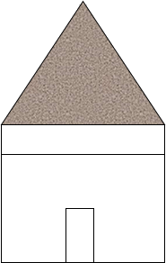 In this hut, what shape is shaded region