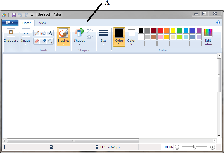 Screenshot of Paint Screen