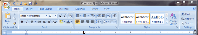 the image represent MS – word