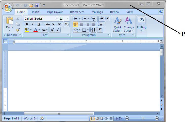 Screenshot of Microsoft office word