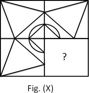 Incomplete figure (X) made b y circle and triangle