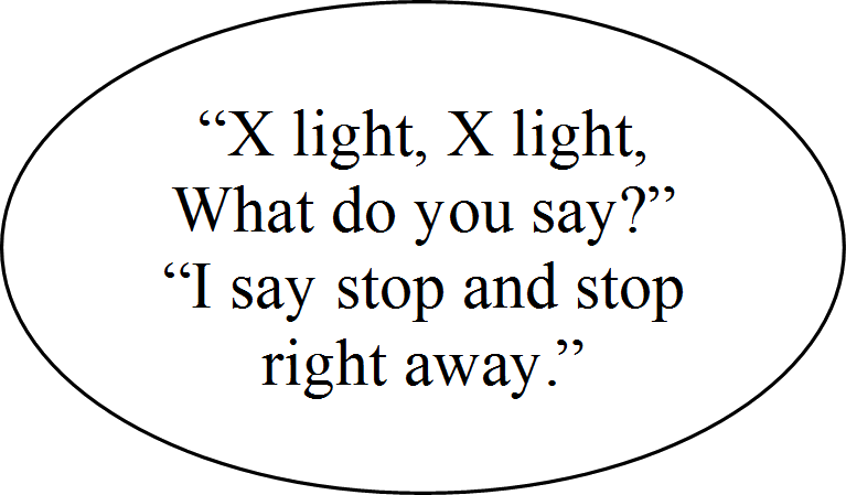 What is X in the rhyme