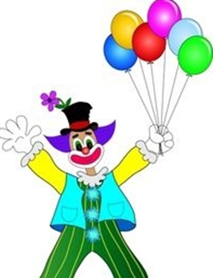 Image showing the joker has hold some ballons in hands