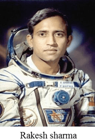 He/She was the first Indian to go into space – Choice B