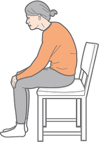 Image shows posture for sitting – Choice A