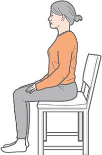 This image shows posture for sitting : Choice C