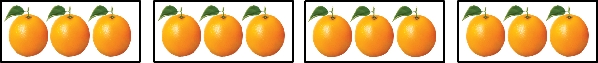 Picture shows the number of oranges in box