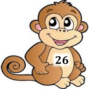 Image shows the number in monkey – Choice D