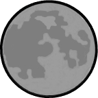 Figure shows the shape of the Moon – Choice A