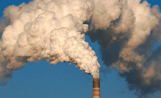 Image shows the activity pollutes the air – Choice B
