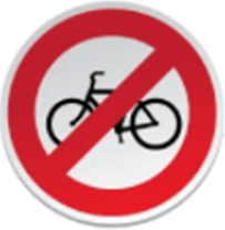 Image shows the prohibitory road sign – Choice B