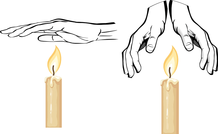 Image shows two candles