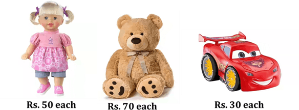 This image shows doll, teddy bear and toy cars