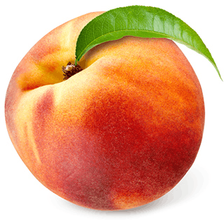 Image shows fruit of peach