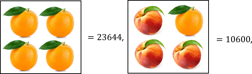 Image shows value of orange and peach