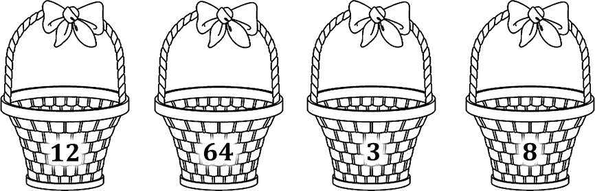 Image shows numbers in each basket