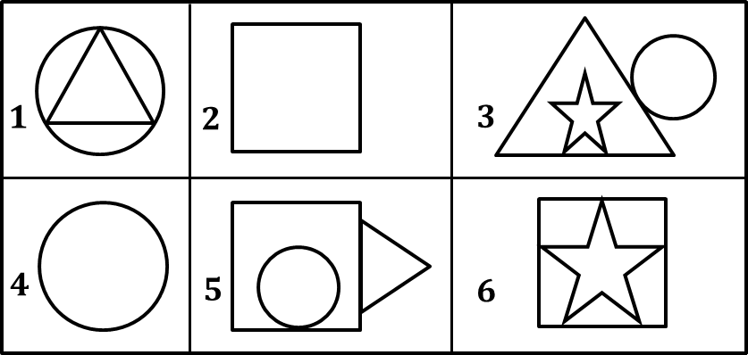 Figure shows group in 6 images