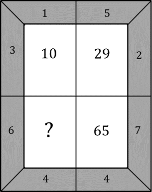 Image shows the number in a pattern