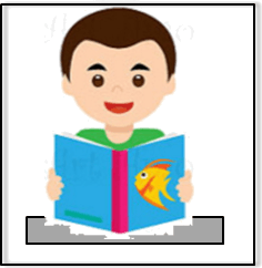 In this diagram shows boy read a book