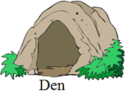 This image shows the Den