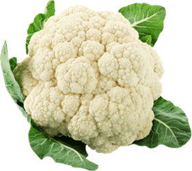 This image shows that a cauliflower