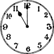 This image of clock show exact time – Choice A